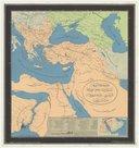 Carte en relief de l'empire Ottoman avec le canal de Constantinople et l'Arabie  1850