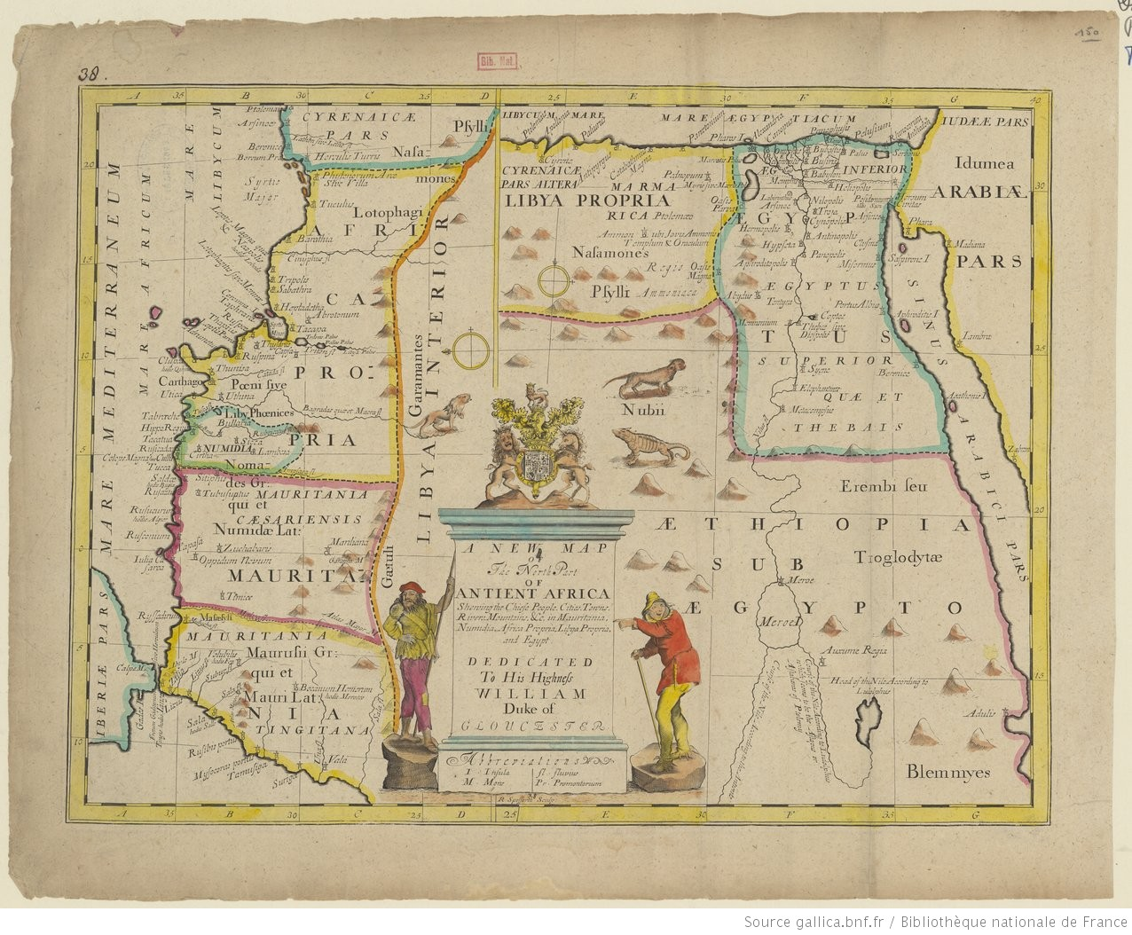 A new map of the north part of antient Africa shewing the chiefe ...
