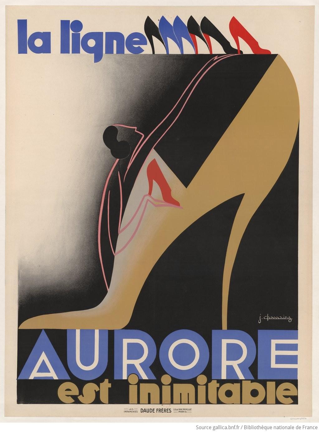 La ligne Aurore est inimitable [chaussures] : [affiche] / J. Chassaing