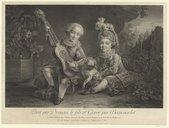 Bildung aus Gallica über Les Fils du duc de Béthune, enfants (Marie-Louis-Joseph et Louis-Philippe Eugène)