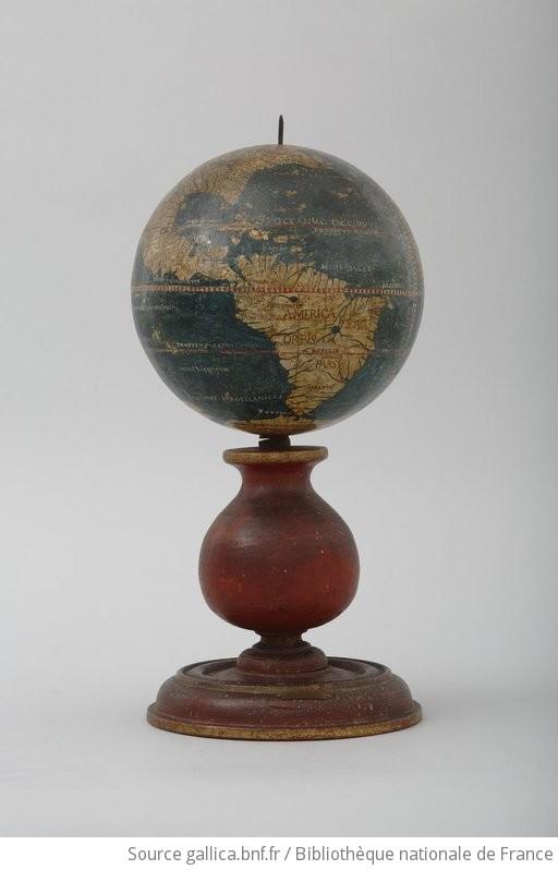 globe terrestre dit globe de bois gallica. Black Bedroom Furniture Sets. Home Design Ideas