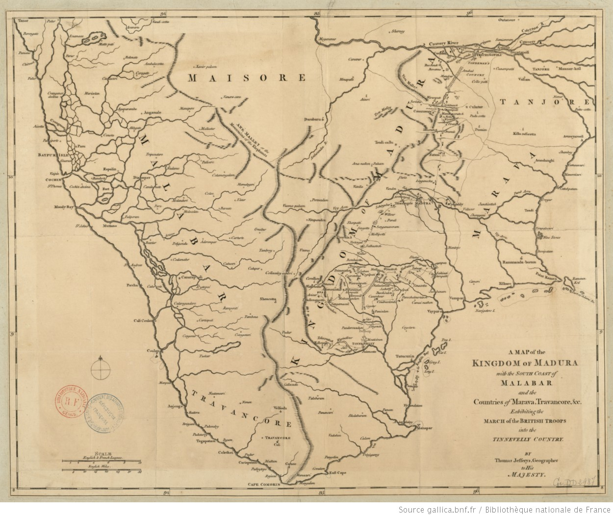 Map South Of France Coast.A Map Of The Kingdom Of Madura With The South Coast Of Malabar And