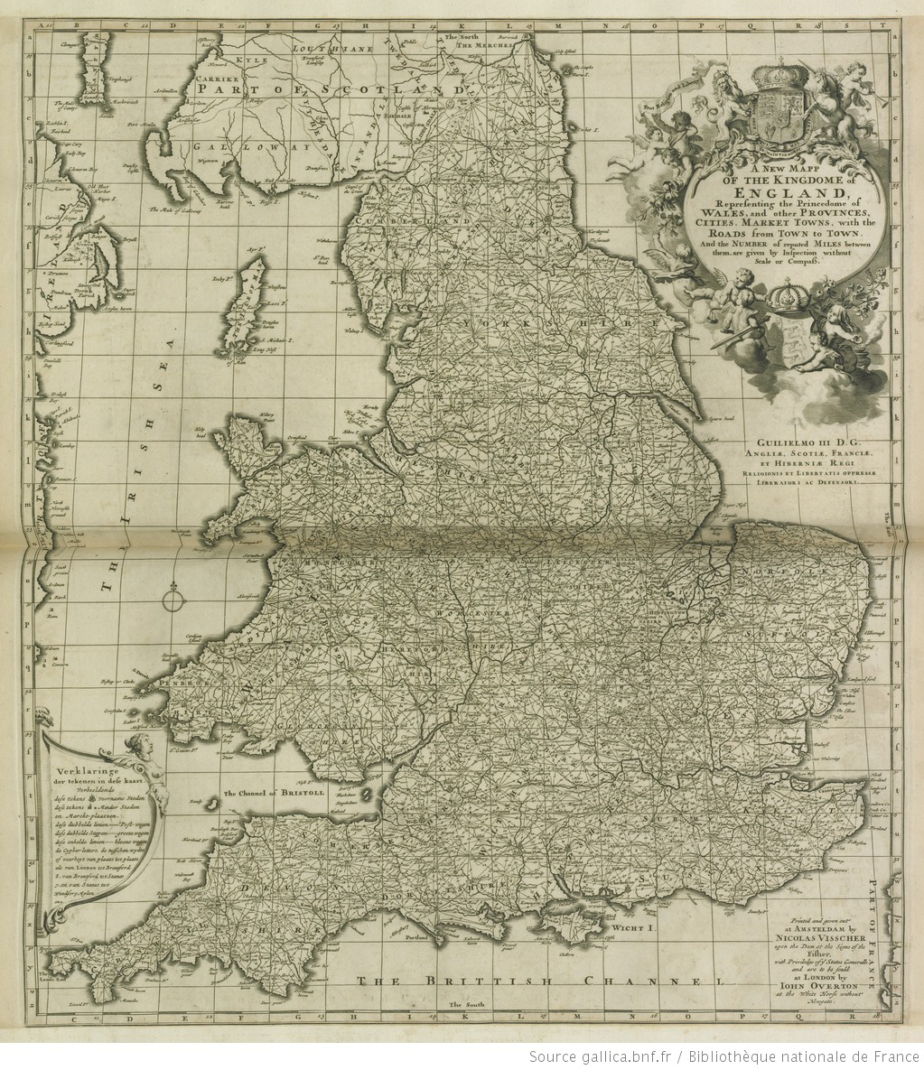 Map Of England With Cities And Towns.A New Map Of The Kingdom Of England Reprensenting The Princedome Of