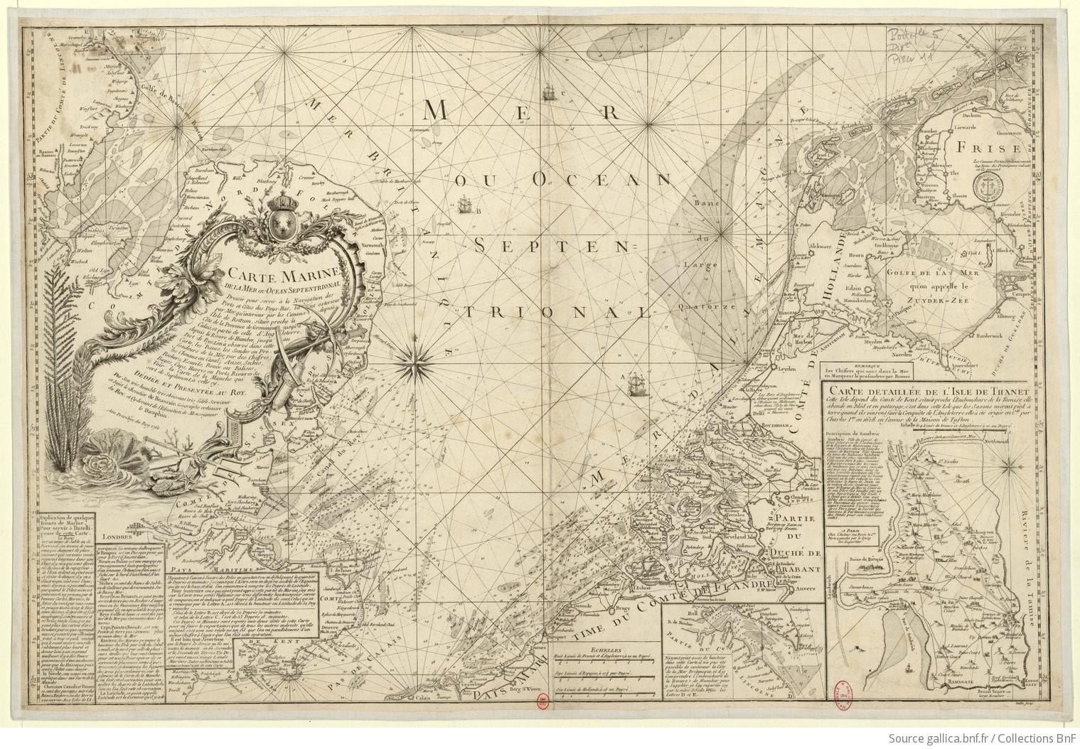Carte Angleterre Pays Bas.Carte Marine De La Mer Ou Ocean Septentrional Dressee Pour