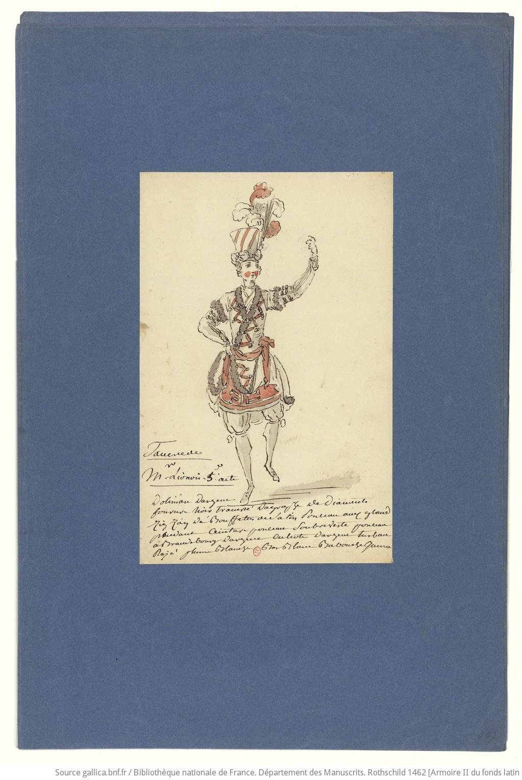 Les habits d'opéra au XVIIIe siècle F39