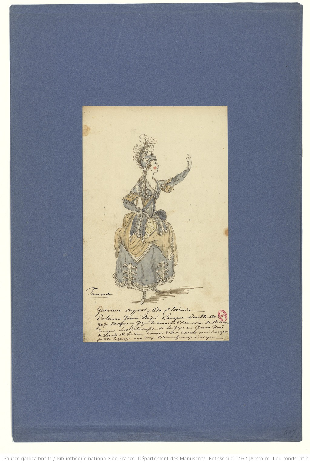 Les habits d'opéra au XVIIIe siècle F41