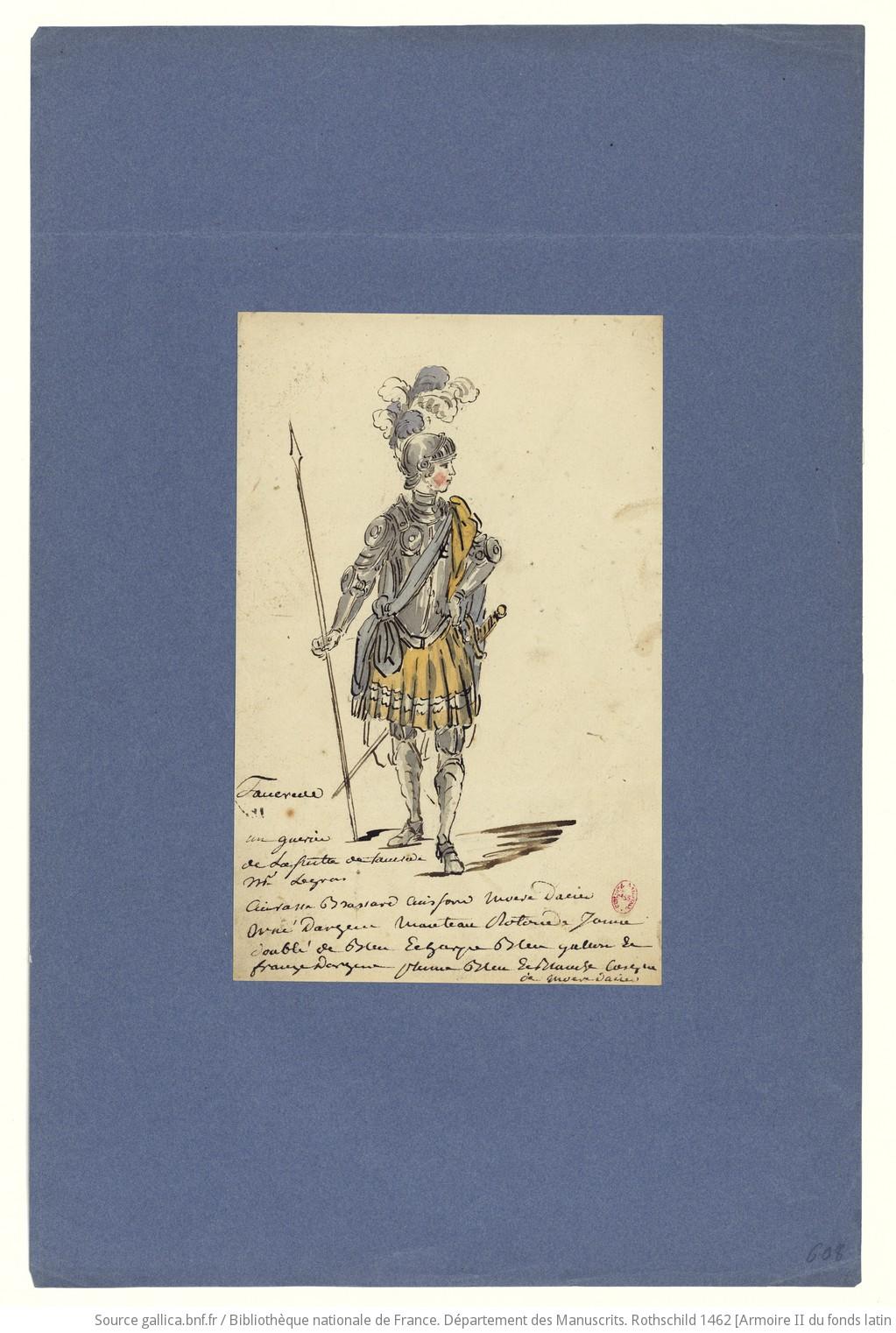 Les habits d'opéra au XVIIIe siècle F43