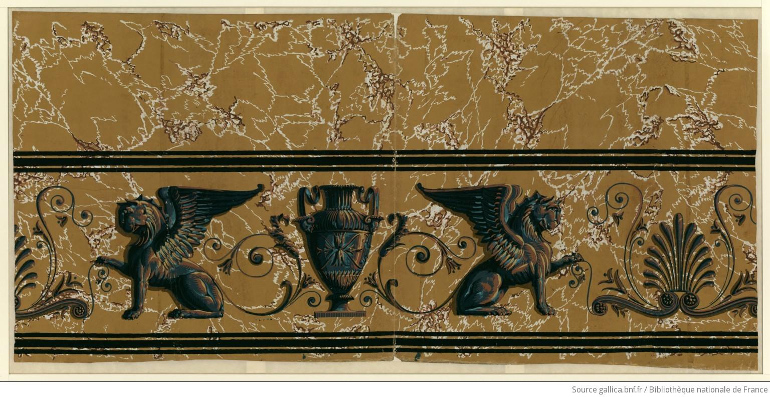 Manufacture robert lambris imitant le marbre papier - Papier peint marbre ...