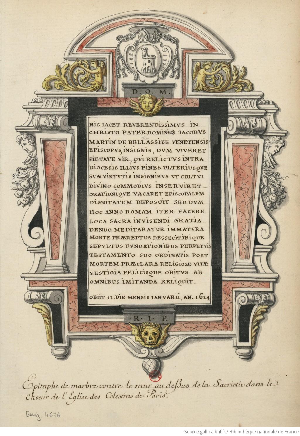 Les tombeaux princiers du couvent des Célestins, à Paris F1