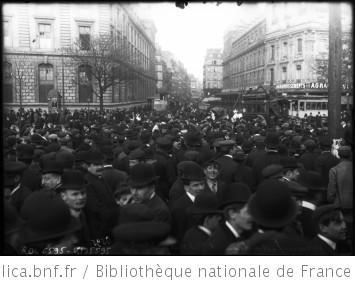 Manifestation, 1er mai 1909 [la foule] : [photographie de presse] / [Agence Rol]