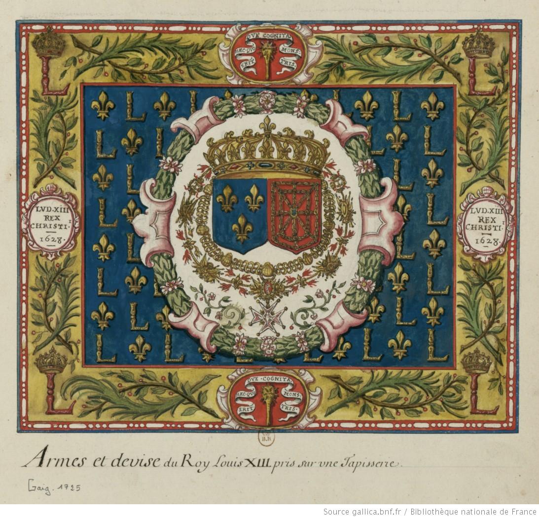 Tapisserie sur laquelle sont peintes les armes de france for Comment enlever de la tapisserie