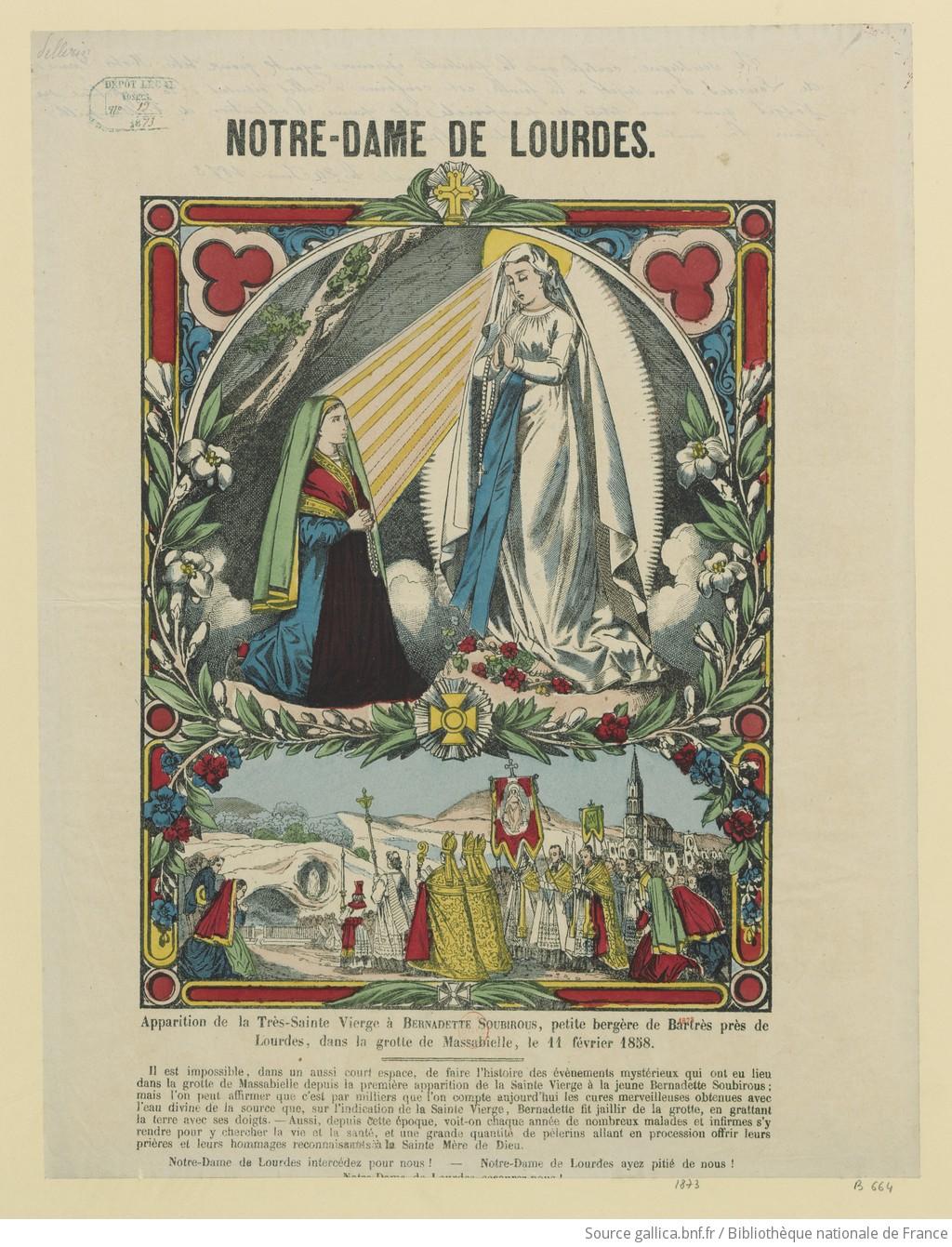 Notre Dame de Lourdes dans images sacrée
