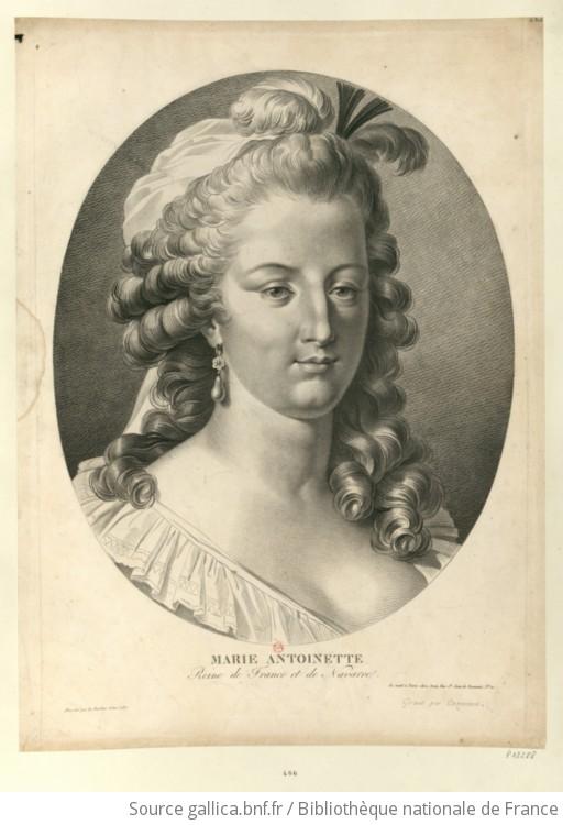 Marie Antoinette, reine de France et de Navarre : [estampe] / dessiné par  Le Barbier l'aîné 1787 ; gravé par Cazenave | Gallica