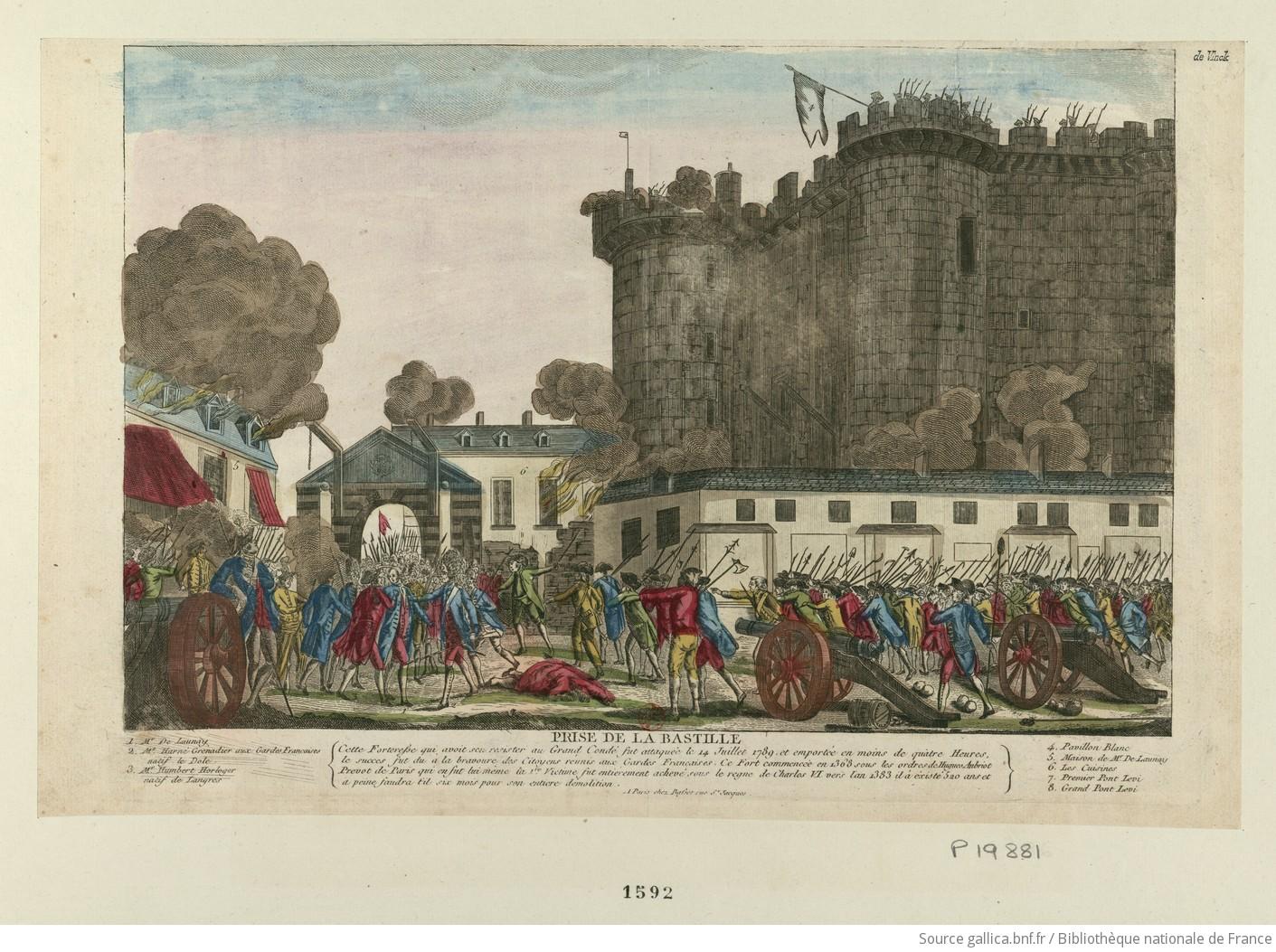 quel jour de la semaine fut le 14 juillet 1789
