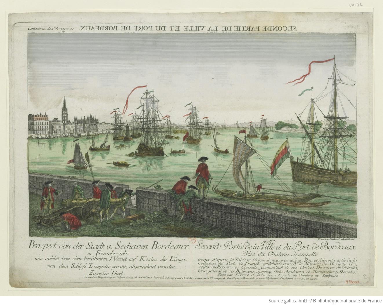 Freseconde partie de la ville et du port de bordeaux prise - Tableau du port de bordeaux par vernet ...