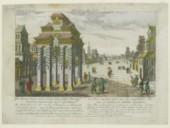 La Rue capitale avec un Arc Triumphale chinois a Canton <br> F.-X. Habermann. 1750