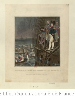 Bonaparte On Board The Bellerophon Off Plymouth : [estampe]