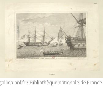 Bonaparte Dal Bellerofonte Vien Trasferito A Bordo Del Northumberland, li 8 Agosto 1815 : [estampe]