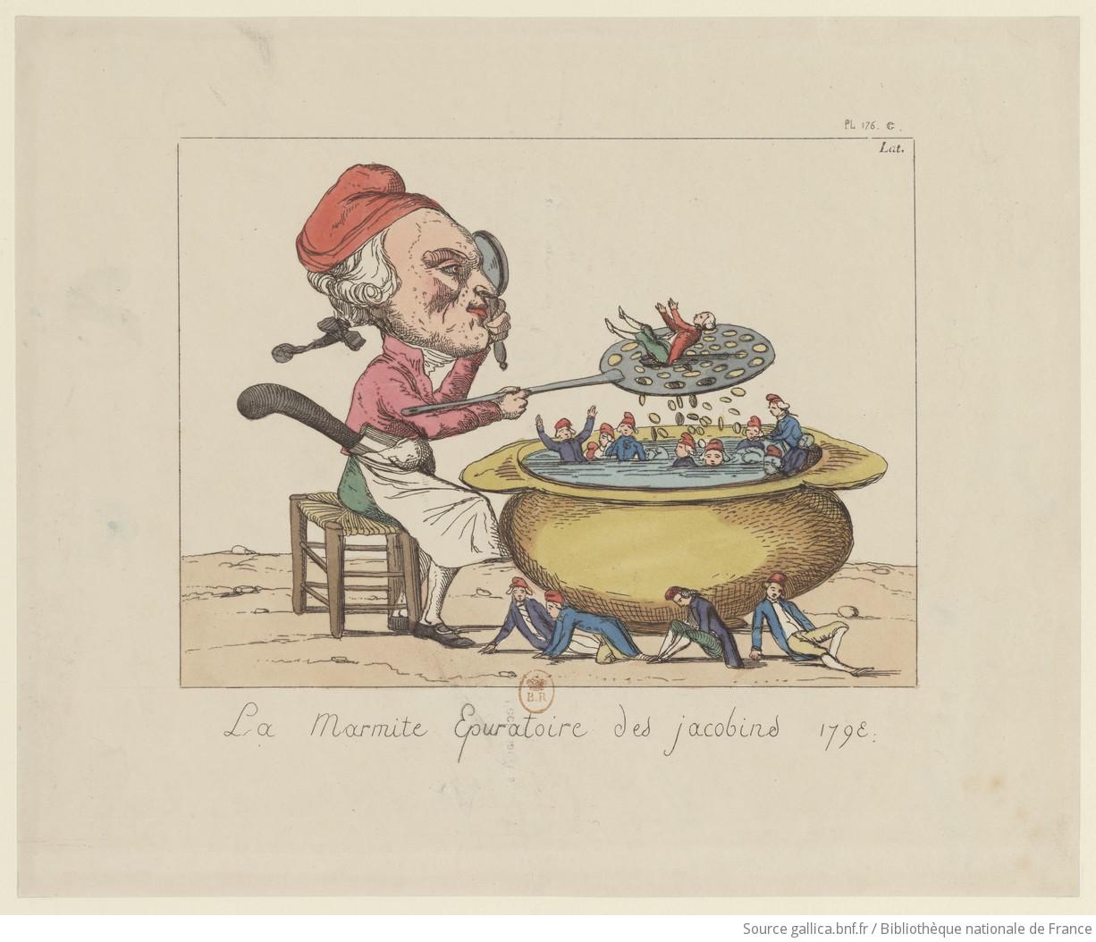 La marmita depuradora de los jacobinos (1793).