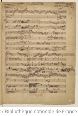 LES PALADINS - Manuscrit autographe (1760 ?)