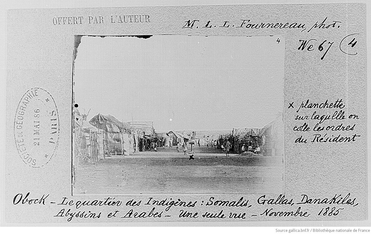 Indigenous Quarter Obock in 1885