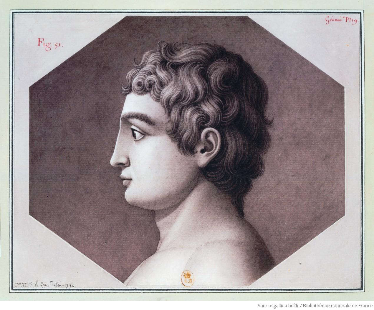 [Tête, vue de profil] : [dessin] / Jn Jques Le Queu delin. 1792 - 1