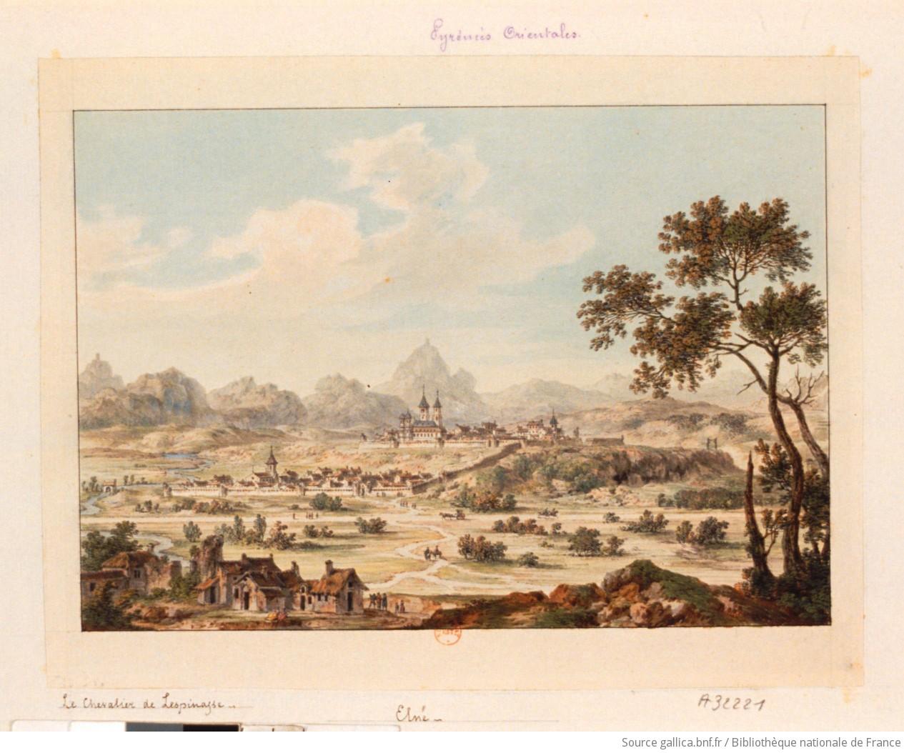 Elne, par Louis Nicolas de  Lespinasse (1734 - 1808 )