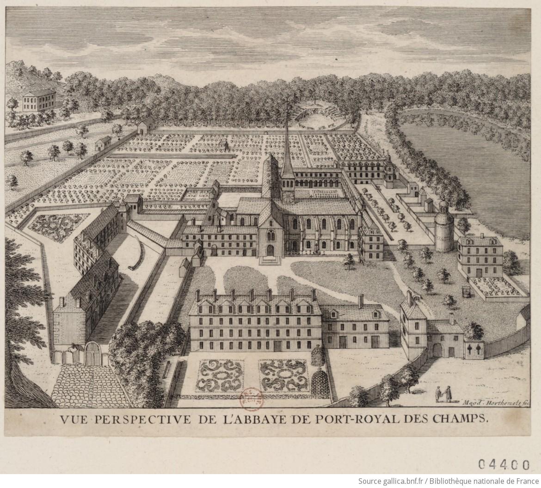 Vue Perspective De L Abbaye De Port Royal Des Champs Estampe