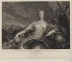 Madame Louise Elisabeth de France duchesse de Parme : La Terre. Gravé d'après un des 4 Tableaux du Cabinet de Mgr le Dauphin à Versailles  J.-M. Nattier ; J. Balechou. 1750