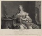 Madame Marie Henriette de France : Le Feu. Gravé d'après un des 4 Tableaux du Cabinet de Mgr le Dauphin à Versailles  J.-M. Nattier ; J. N. Tardieu. 1750