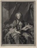Portrait de Marie Lecksinska, assise près d'une table  J. M. Nattier ; J. Tardieu,