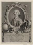 Portrait de G. L. Le Clerc, comte de Buffon, en buste, de 3/4 dirigé à gauche dans une bordure ovale : [estampe]