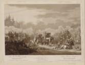 La mort du prince Joseph Poniatowski à la bataille de Leipsick  P. Skerl ; H. Cotta