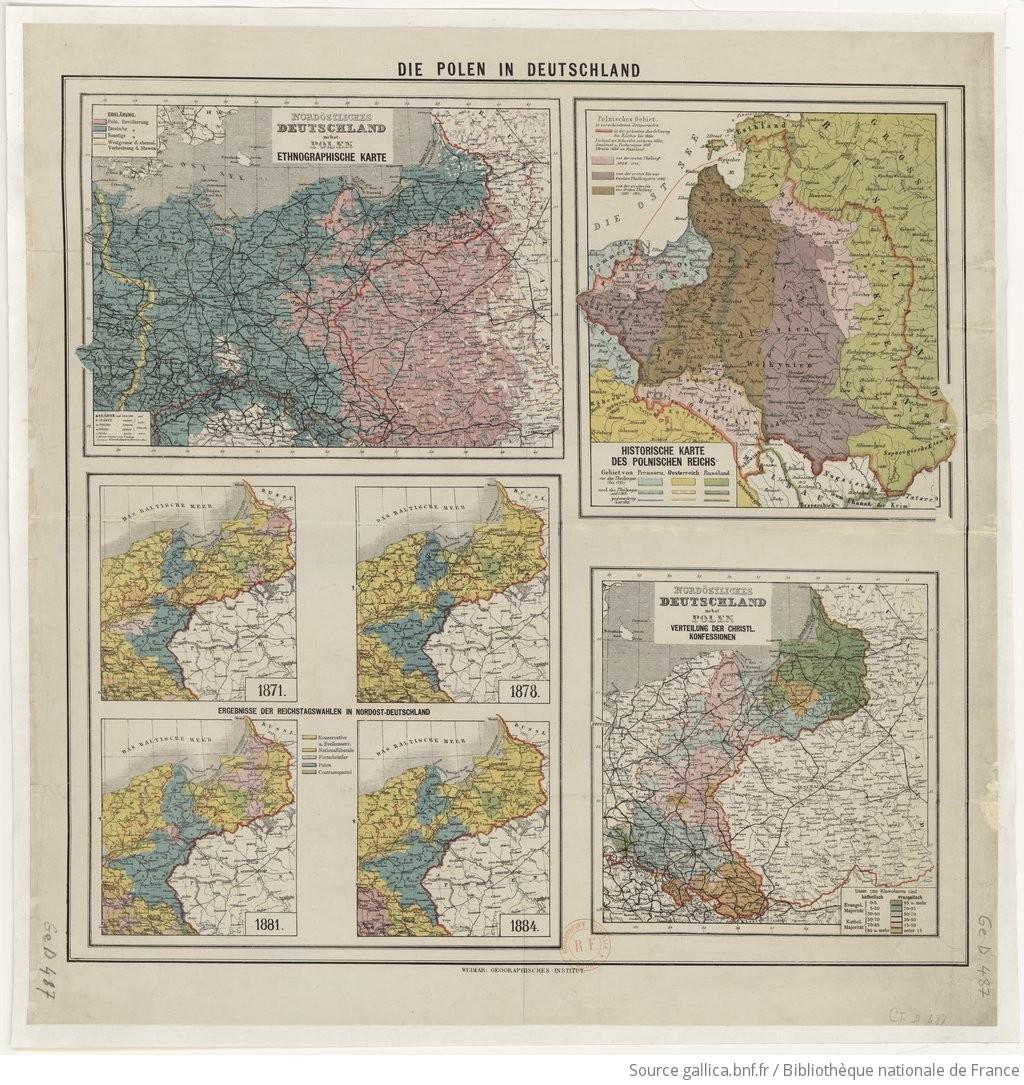 Polen Karte.Die Polen In Deutschland Nordöstliches Deutschland Nebst Polen