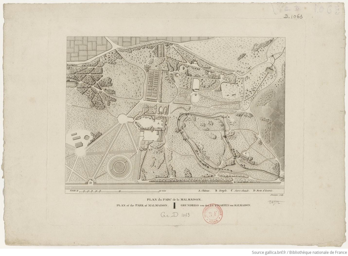 Plan du parc de la malmaison - Parc de la malmaison ...
