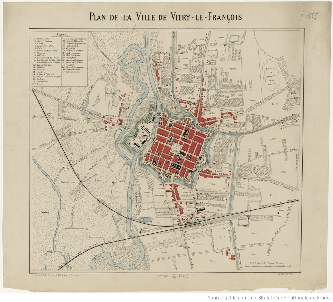 Plan de la ville de vitry le fran ois for Piscine vitry le francois