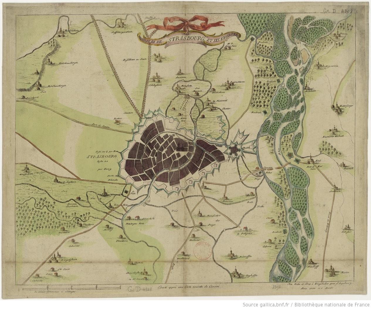 plan de strasbourg et ses environs 1 lieue commune d 39 allemagne 0m 158 1 20 000 env. Black Bedroom Furniture Sets. Home Design Ideas