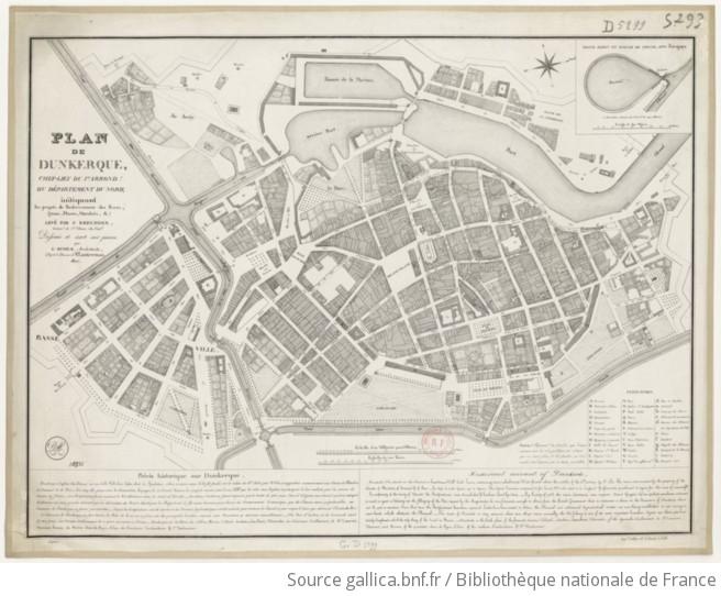 Plan De Dunkerque    Indiquant Les Projets De