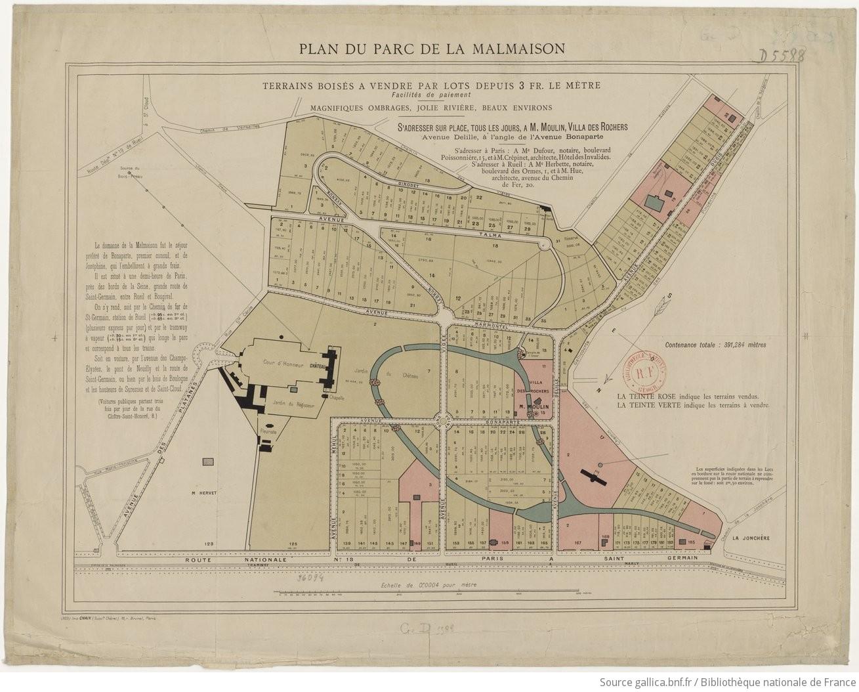 Plan du parc de la malmaison terrains vendre par lots - Parc de la malmaison ...