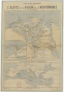 L'Egypte et le bassin de la Mediterranée  C. Lassailly. XIXeme s.