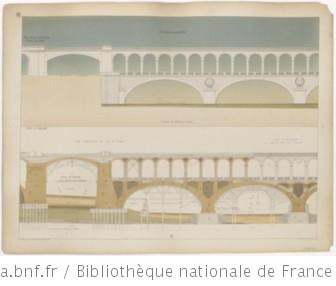 Chemin de fer de ceinture de Paris (rive gauche) : Pont-viaduc sur la Seine au Point-du-Jour