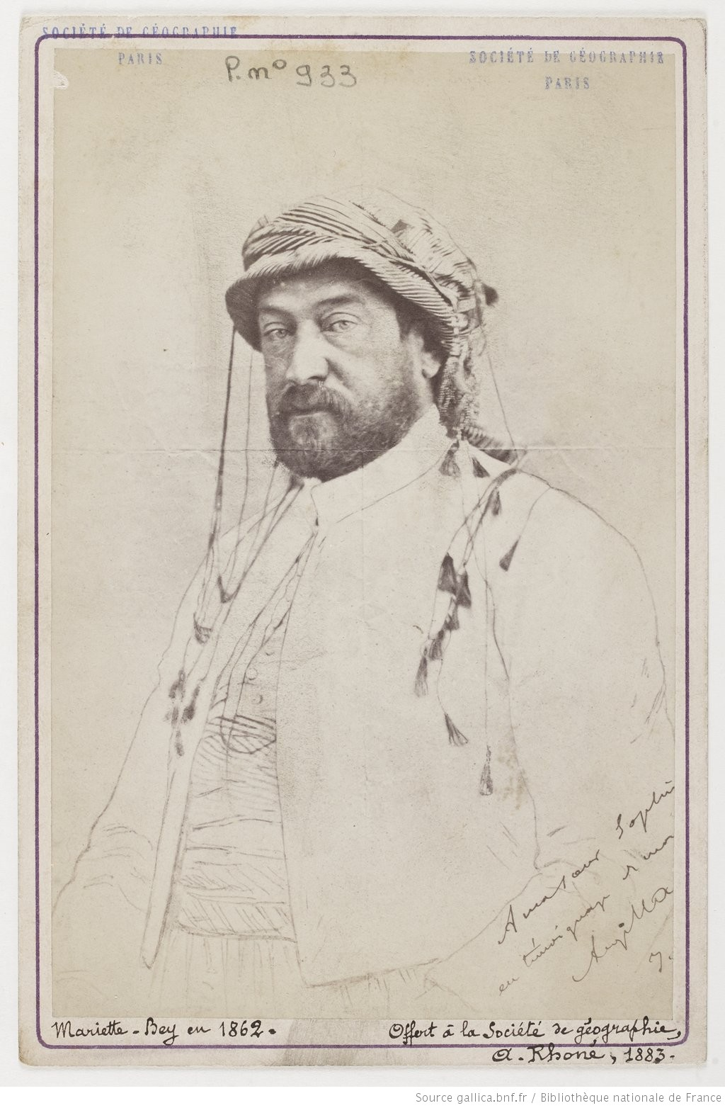 Portrait d'Auguste Mariette