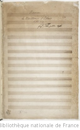 LA NAISSANCE D'OSIRIS - Manuscrit Decroix (1771-1789)