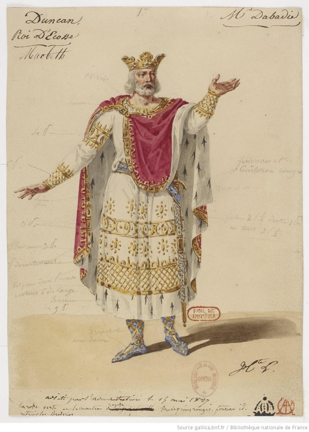 [Macbeth : quatorze maquettes de costumes / par Hippolyte Lecomte]