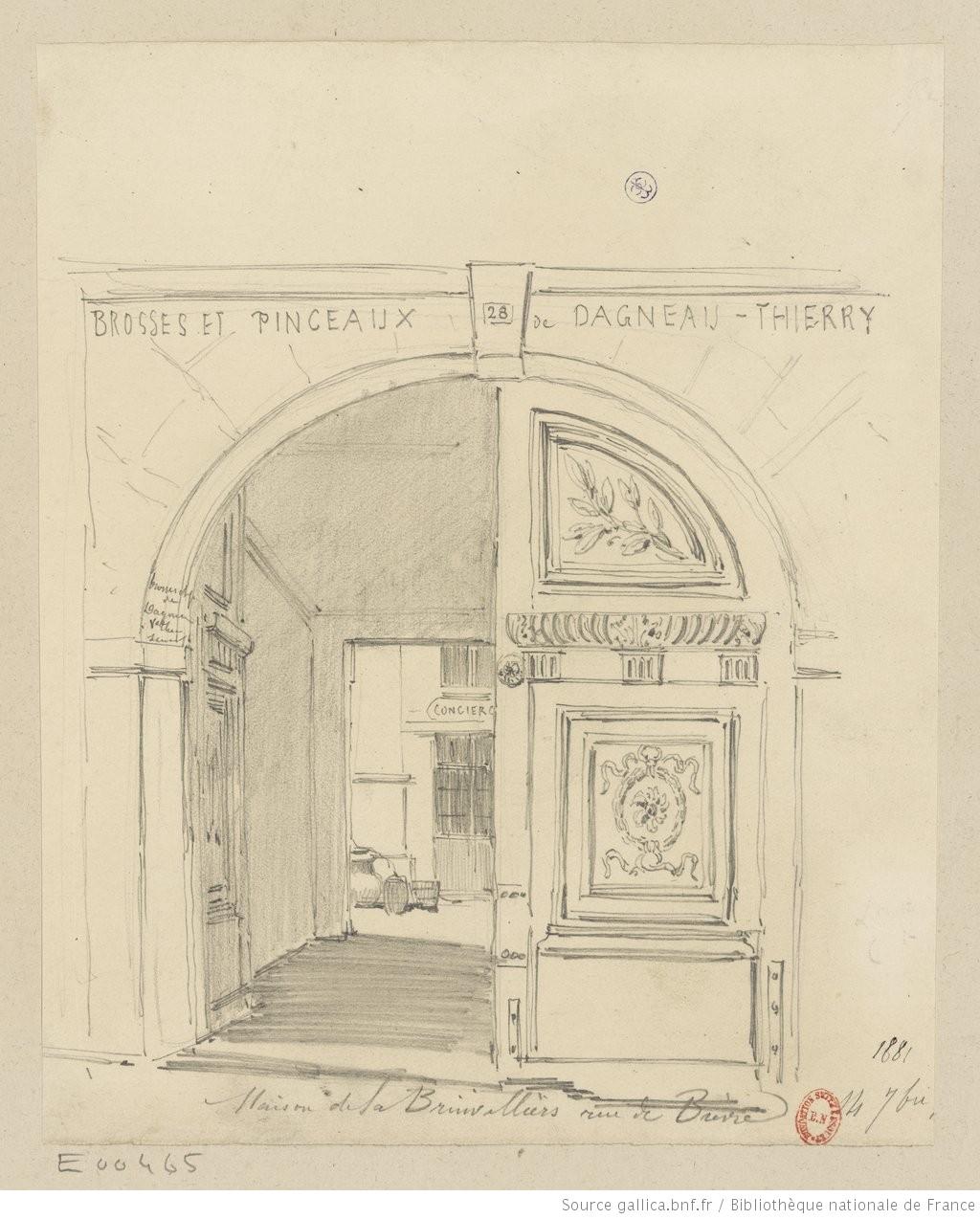 Maison de la Brinvilliers rue de Bièvre, by Jules-Adolphe Chauvet
