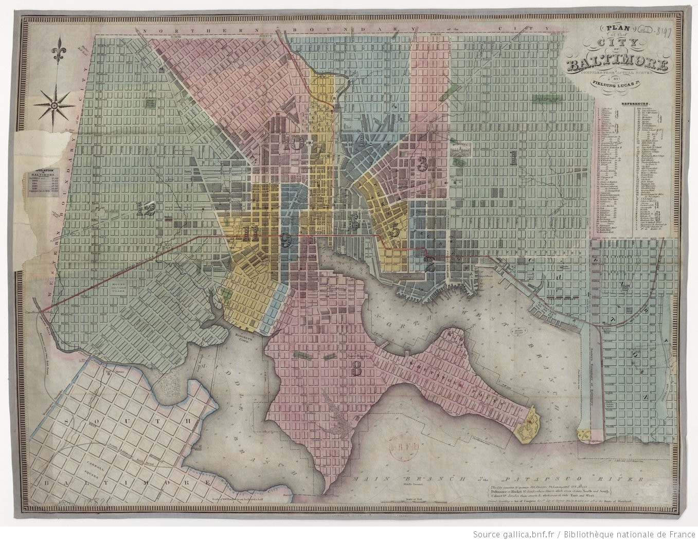 Plan of the City of Baltimore... / by Fielding Lucas, Jr - 1