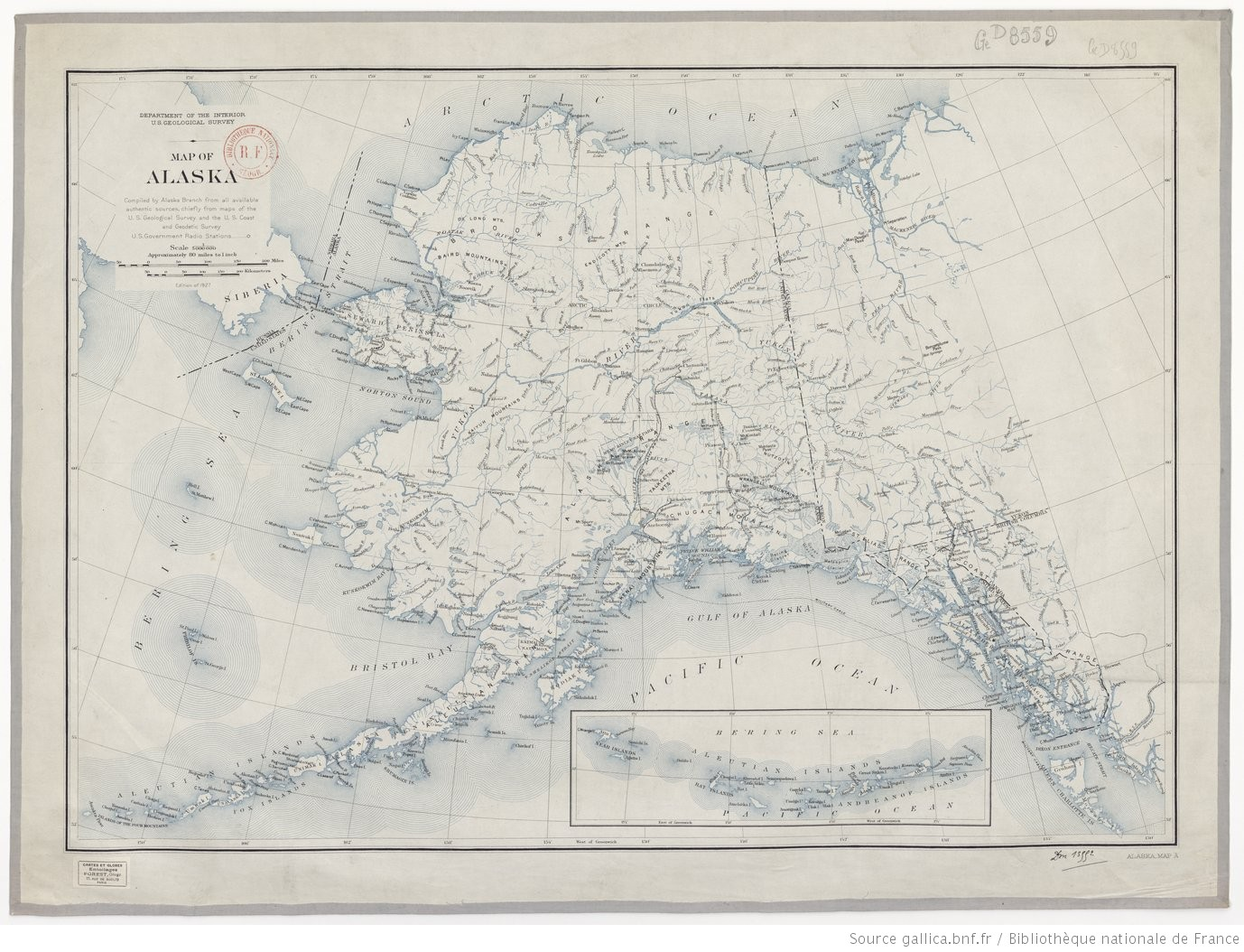 Department of the Interior. U. S. geological Survey. Map of Alaska... - 1