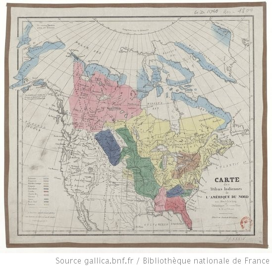 Tribu Indienne Carte.Carte Des Tribus Indiennes De L Amerique Du Nord Vers 1600
