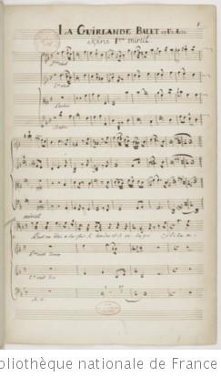 LA GUIRLANDE - Manuscrit Decroix (1771-1789)