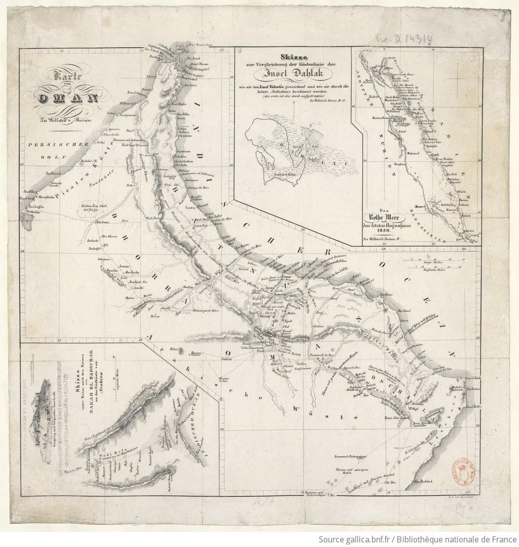 Karte Oman.Karte Von Oman Zu Wellsted S Reisen Gallica